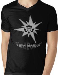 Nerd Power Mens V-Neck T-Shirt