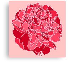 Red Peony Canvas Print