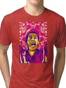Billy Madison, I Am The Smartest Man Alive, Stencil Art Tri-blend T-Shirt