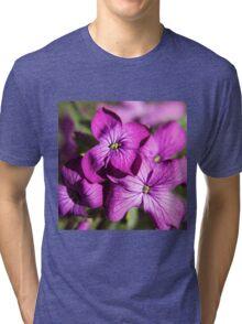 Purple Flowers Tri-blend T-Shirt