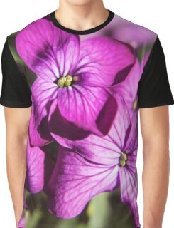 Purple Spring Flowers Photography Print Graphic T-Shirt