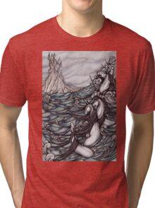 Unicorns in Sea Tri-blend T-Shirt