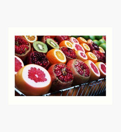 Tropical Fruits/ Turkish Street Food Art Print