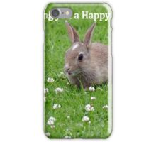 Easter Bunny Wishes - NZ iPhone Case/Skin