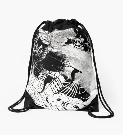 Ghost Ship Drawstring Bag