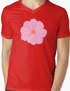 Pink Cosmos Mens V-Neck T-Shirt