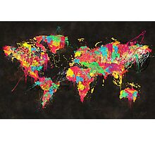 Psychedelic Continents Photographic Print