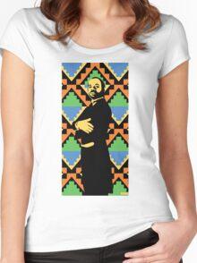 Geoffrey, Fresh Prince of Bel Air, Street Art, Stencil Art Women's Fitted Scoop T-Shirt