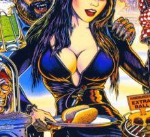 Elvira & The Party Monsters BackGlass Art Sticker