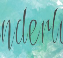 Wanderlust Watercolor Teal Sticker