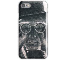 Top Hat Binoculars Man, Digital Drawing iPhone Case/Skin
