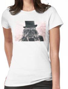 Top Hat Binoculars Man, Digital Drawing Womens Fitted T-Shirt