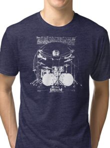 Vintage Da Vinci Drum Tri-blend T-Shirt