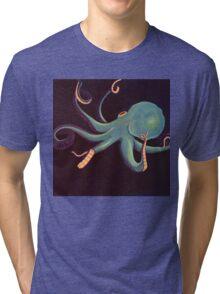 Aqua Octopus Tri-blend T-Shirt