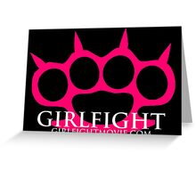 GIRLFIGHT - Pink Brass Knuckles Greeting Card