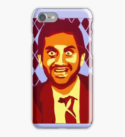 But Boo! Tom Haverford, Aziz Ansari, Parks and Rec., Street Art, Stencil iPhone Case/Skin