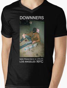Skater + Facemask Dark Grunge Pastel Tee (Downners) Mens V-Neck T-Shirt