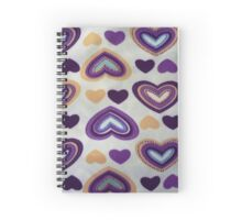 batik hand stamp print with love motif Spiral Notebook