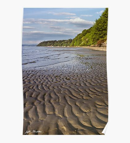Tidal Pattern in the Sand Poster