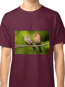 Pair of House Finches in a Tree Classic T-Shirt