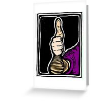 Thumbs Up! COLORIZED Greeting Card