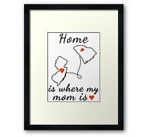 Home is where my mom is Framed Print