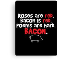 bacon red Canvas Print