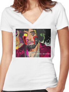 Jimi Hendrix Cyborg Women's Fitted V-Neck T-Shirt