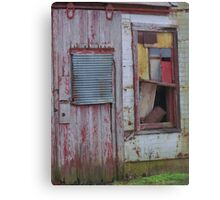 Abandoned in primary colors Canvas Print