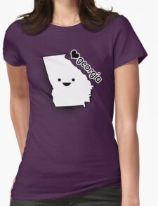 Cute Georgia Womens Fitted T-Shirt