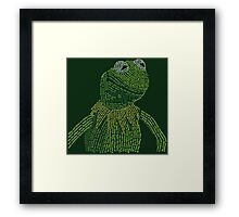 It's not easy, bein' Kermit Framed Print
