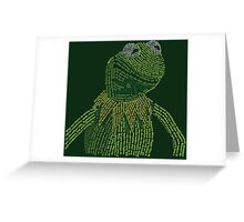 It's not easy, bein' Kermit Greeting Card