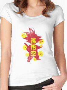 Catch'em Goku Women's Fitted Scoop T-Shirt