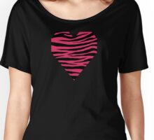 0120 Cerise or Cherry Tiger Women's Relaxed Fit T-Shirt