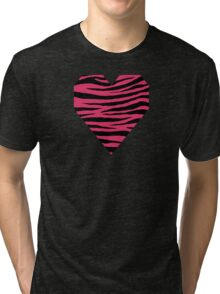 0120 Cerise or Cherry Tiger Tri-blend T-Shirt