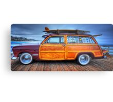 Classic Woody Panel Metal Print