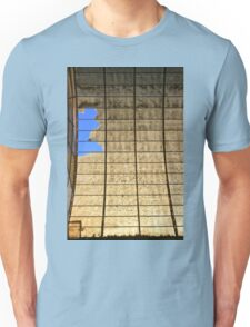 Broken ancient old roof after ages Unisex T-Shirt