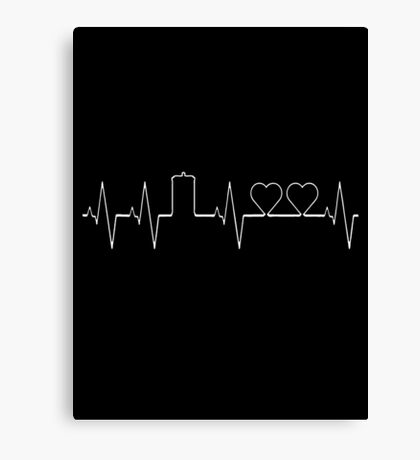 Dr Who Two Hearts Canvas Print