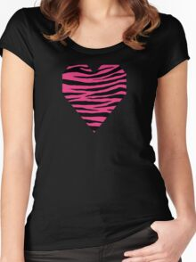 0121 Cerise Pink Tiger Women's Fitted Scoop T-Shirt