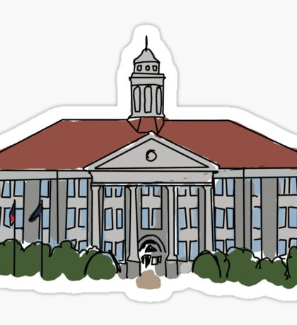 Wilson Hall James Madison University Sticker