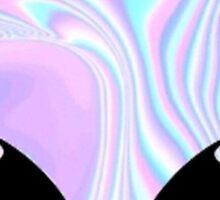 Groovy Psychedelic Alien Sticker