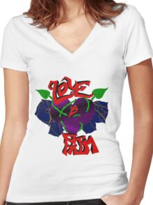 Love Is Pain Women's Fitted V-Neck T-Shirt