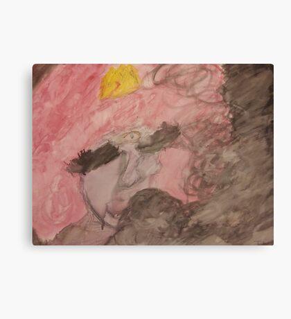 Bubble gum and black smoke Canvas Print