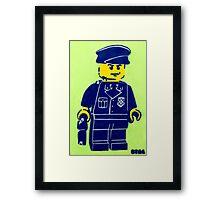 Lego Cop, Street Art, Spray Paint Stencil Framed Print