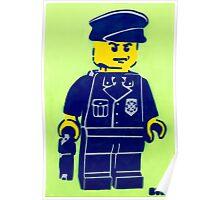 Lego Cop, Street Art, Spray Paint Stencil Poster