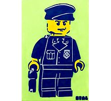 Lego Cop, Street Art, Spray Paint Stencil Photographic Print