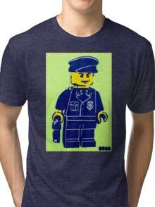 Lego Cop, Street Art, Spray Paint Stencil Tri-blend T-Shirt