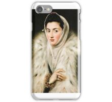 Greco - The Lady with an Ermine iPhone Case/Skin