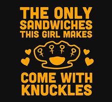 """Make Me A Sandwich"" Women's Fitted Scoop T-Shirt"