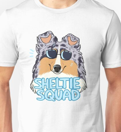 SHELTIE SQUAD (blue merle) Unisex T-Shirt